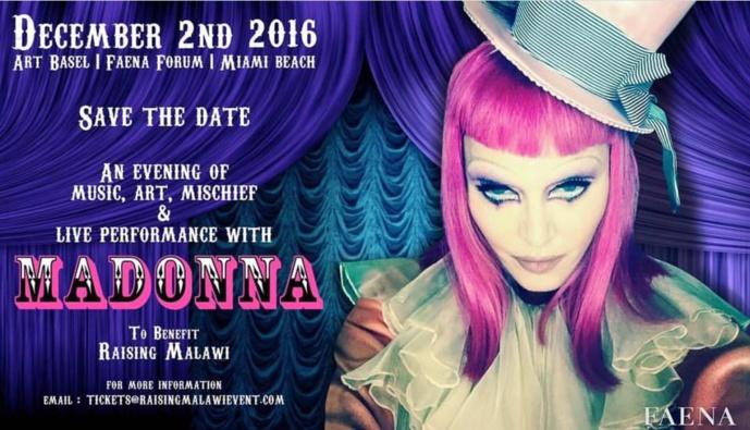 Live Performance de Madonna au Art Basel