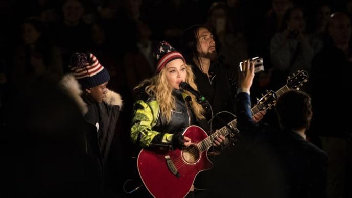 Le concert surprise de Madonna