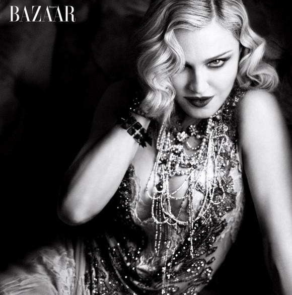 Madonna en couverture du Harper's Bazaar