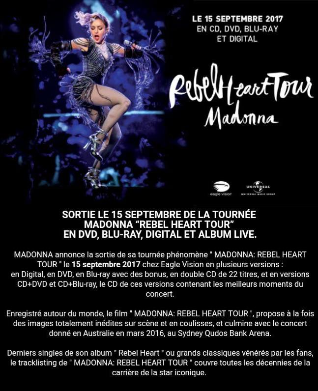 Officiel : La sortie du DVD du Rebel Heart Tour