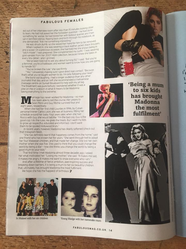 Madonna dans la presse internationale