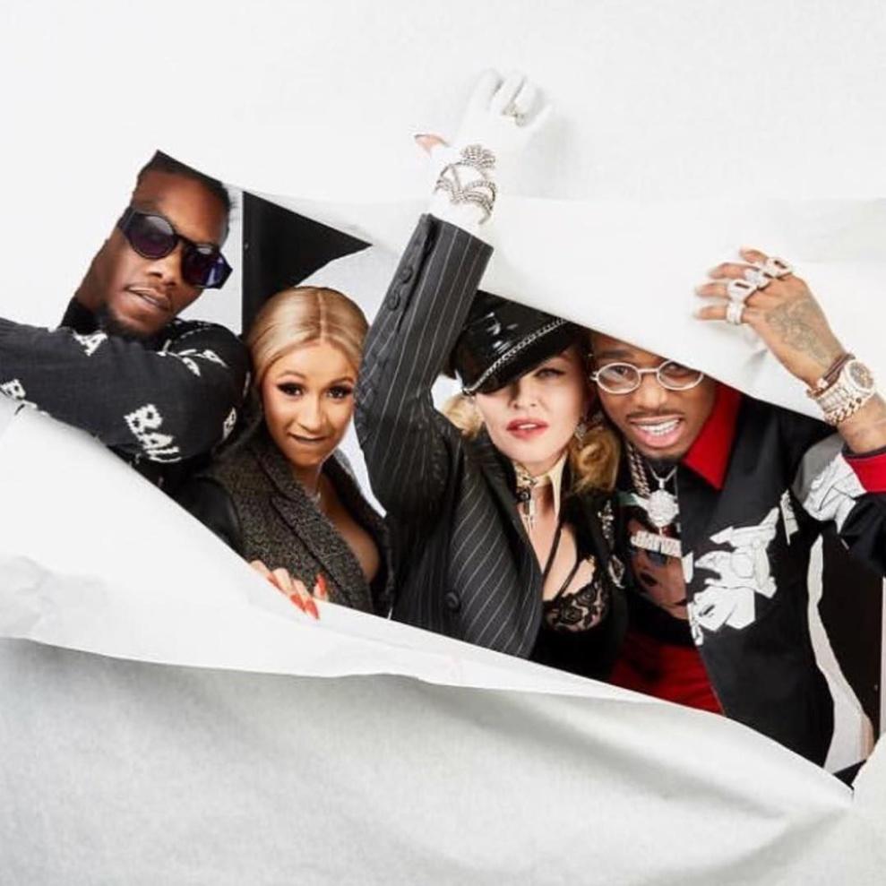 Madonna, Cardi B et Quavo, champagne !