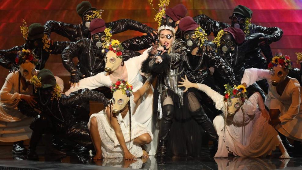 La prestation politique de Madonna