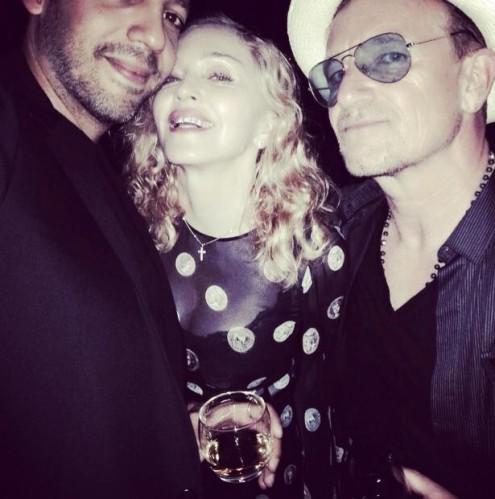 Madonna et Bono live en Italie ?