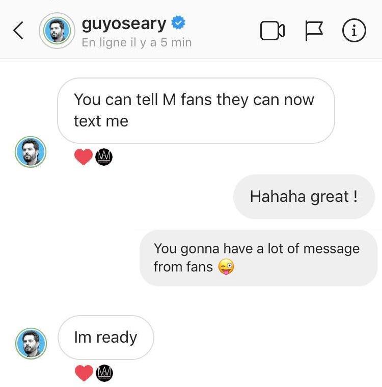 Envoyez un SMS à Guy Oseary