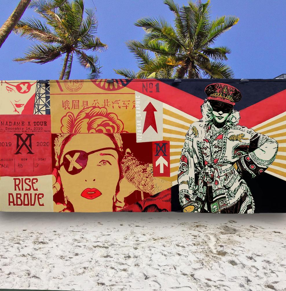Fresque murale à Miami par Izzagar