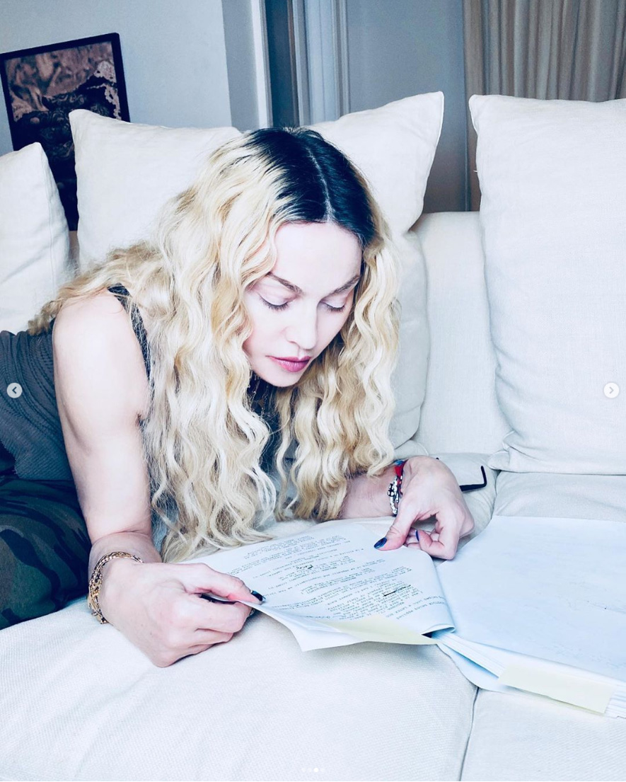 Madonna live sur Instagram