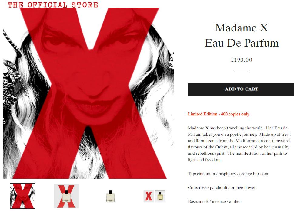 Le parfum Madame X