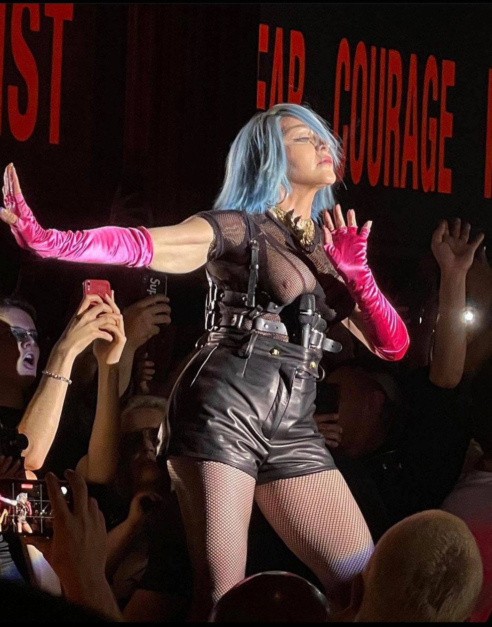 Madonna hier soir à NYC