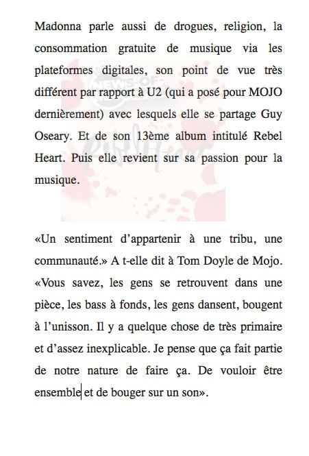 L'interview Mojo en français