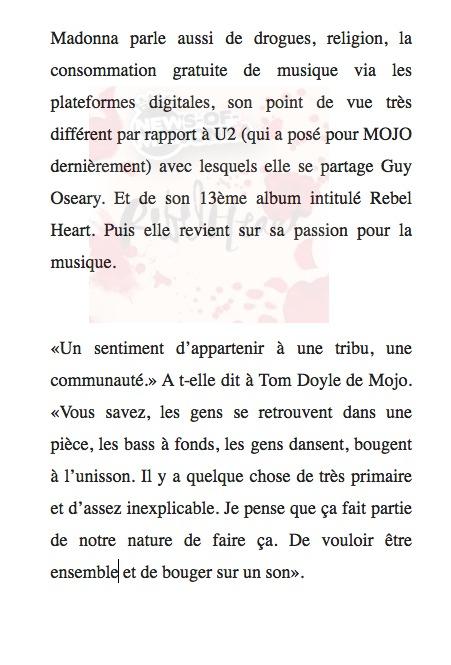 L'interview Mojo en français