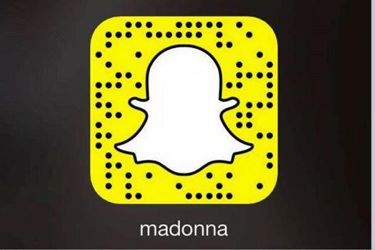 Rejoignez Madonna sur Snapchat