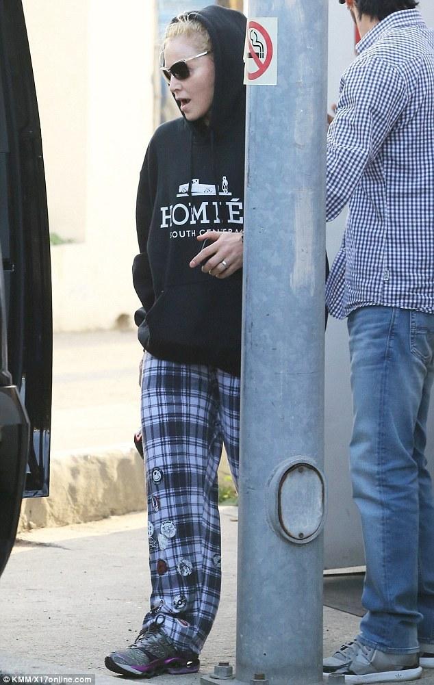 Madonna dans les rues de Los Angeles