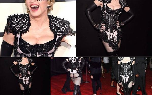 Madonna red carpet Grammy Awards