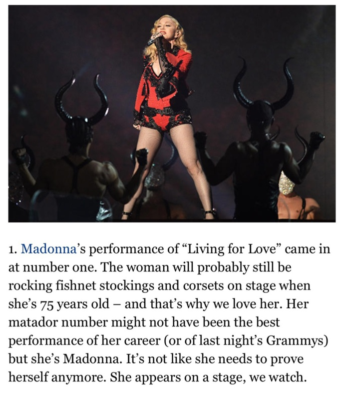 Living For Love : la performance la plus regardée des Grammys