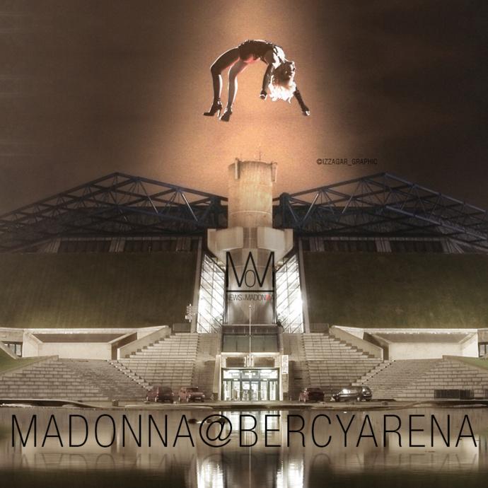 Madonna à Bercy en décembre 2015