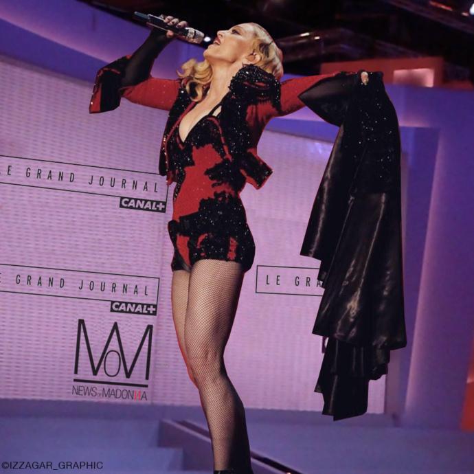 Madonna au Grand Journal de Canal+