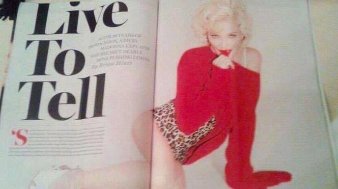 Madonna dans Rolling Stone de Mars