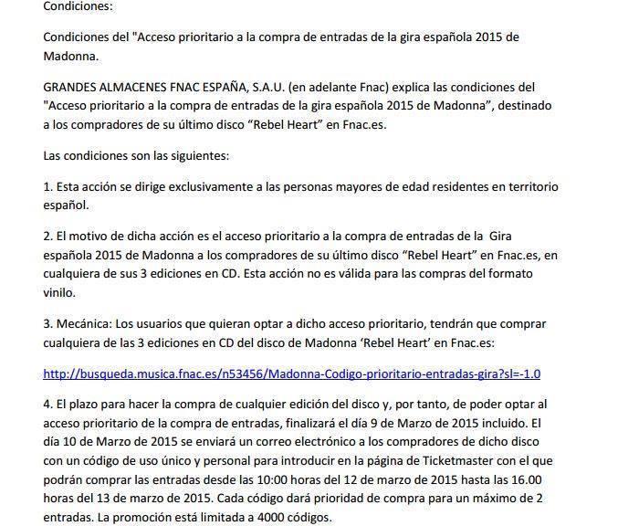 Madonna world tour : prévente le 12 mars