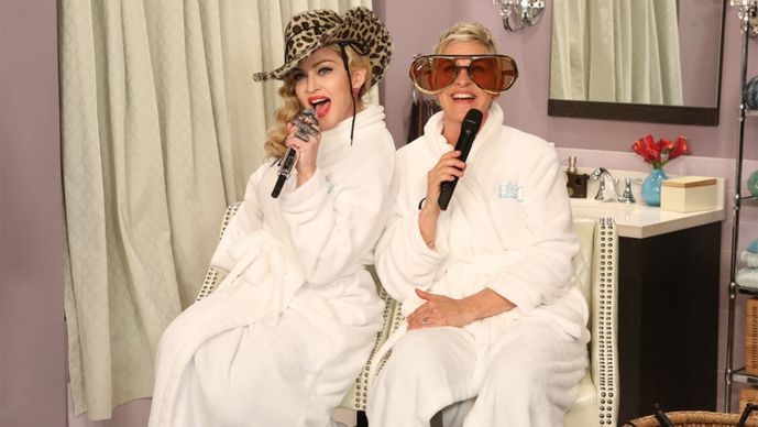 Madonna and Ellen : DRESS YOU UP