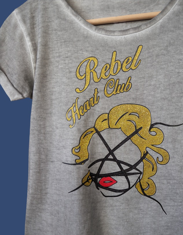 Madonna's T-shirt Hand-painted