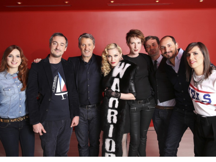 Antoine De Caunes et Le Staff de Madonna
