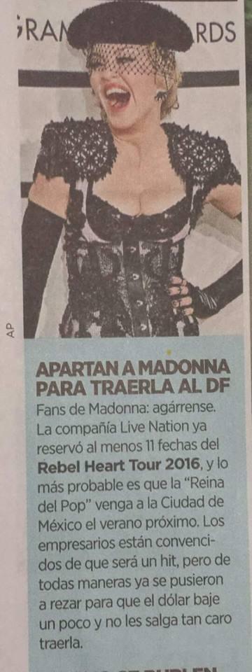 Le Rebel Heart Tour à Mexico ?