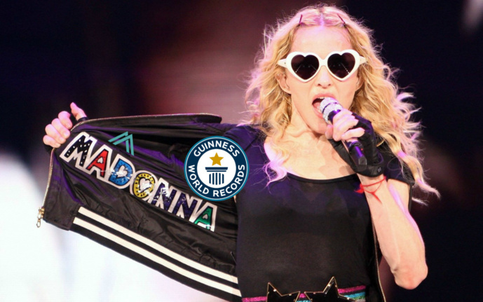 Madonna : de nouveaux records pour le Guinness Book World Record