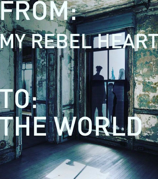 We Are All Immigrants‼️ #ELLISstory @JR We all bleed the same color......We are all ONE🙏🏻🙏🏻🙏🏻 Pray For Peace! In Paris and all around the World ❤️#rebelheart