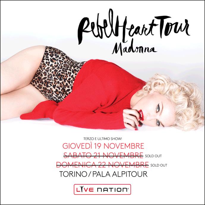 Madonna est arrivée à Turin