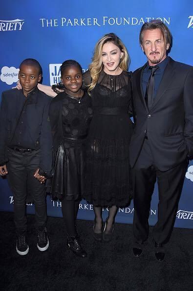 Madonna et ses enfants au Gala JP HRO