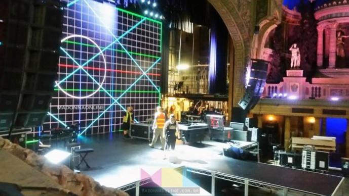 la scène du forum Theatre de Melbourne