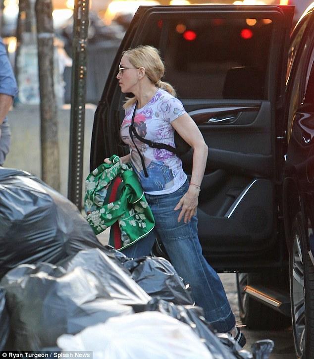 Madonna se rend à Broadway avec ses enfants