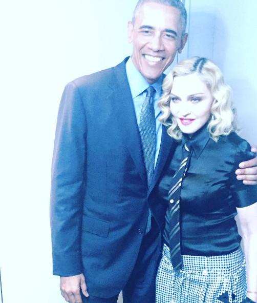 When Madonna meets Obama ...