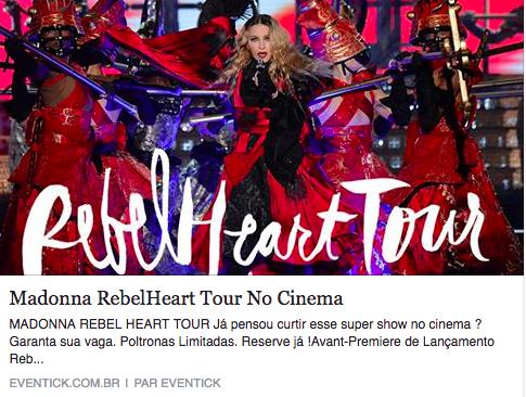 Le Rebel Heart tour au cinéma pour les Brésiliens ?