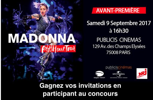 Rebel Heart Tour : Avant-première sur les Champs-Elysées