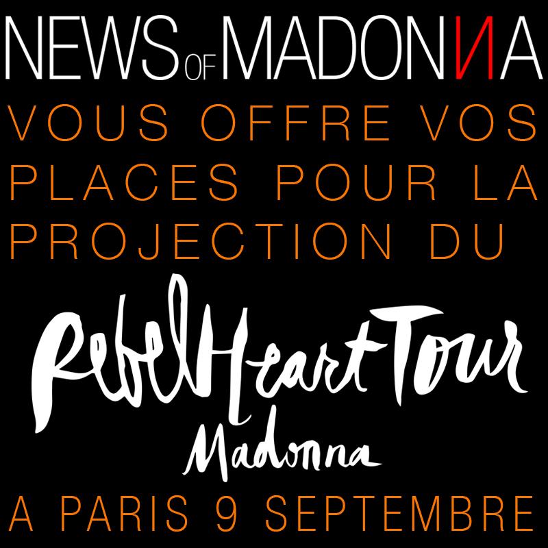 NOM vous offre vos places pour la projection du Rebel Heart Tour à Paris