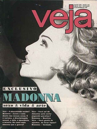 Madonna en première page du magasine dans les années 90