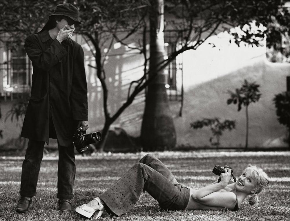 Madonna et Steven Meisel pendant le shooting de SEX