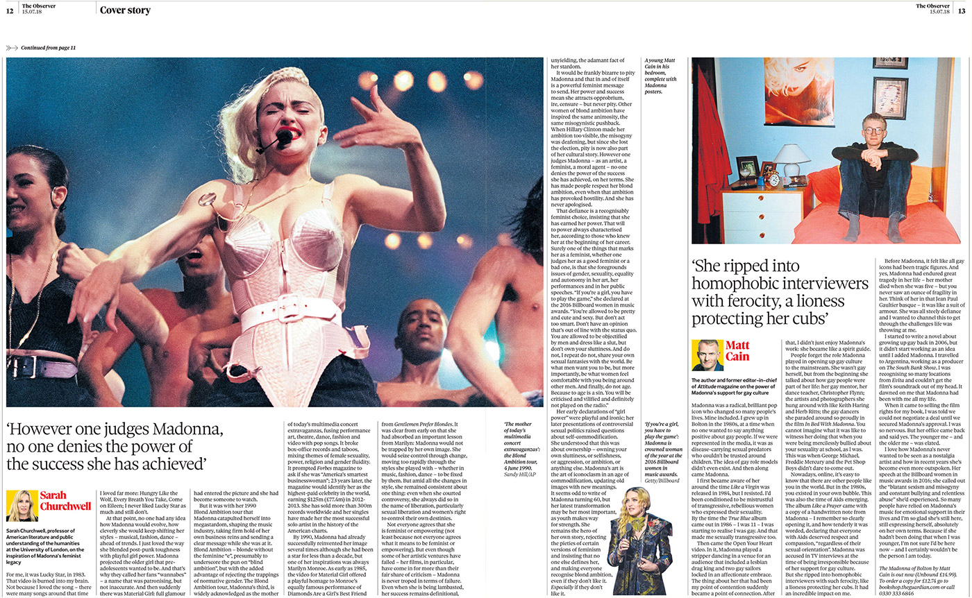 Madonna dans la presse internationale