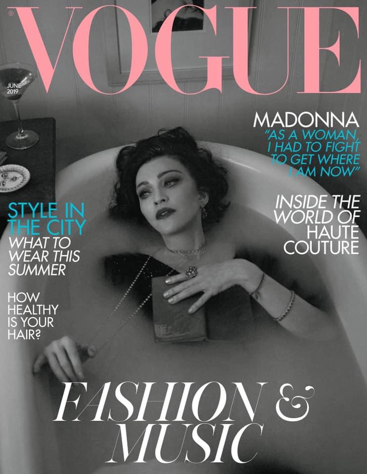 Madonna en couverture de Vogue