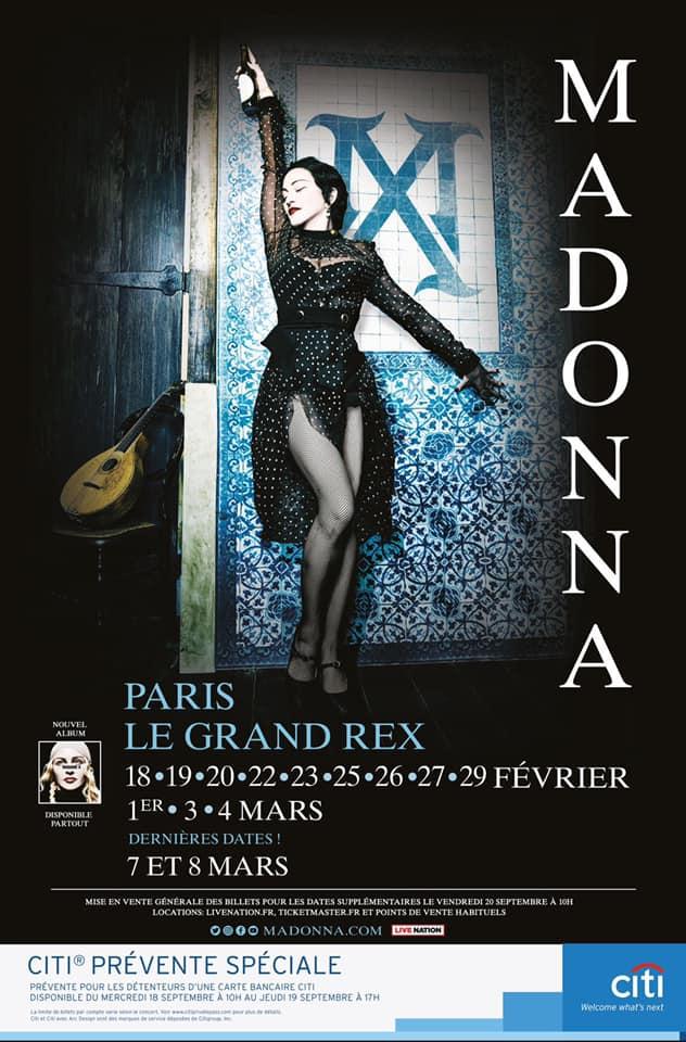 2 nouvelles dates pour Paris