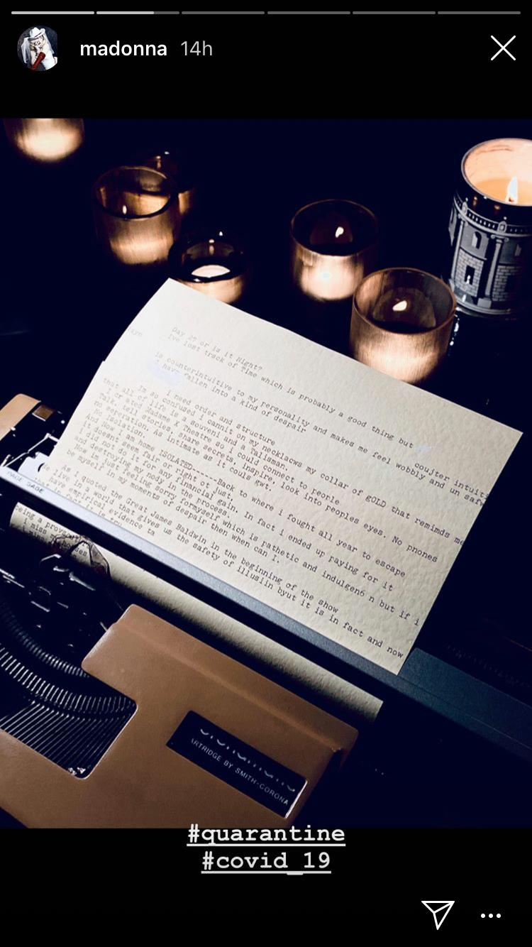 Madame X quarantine diary par papermag