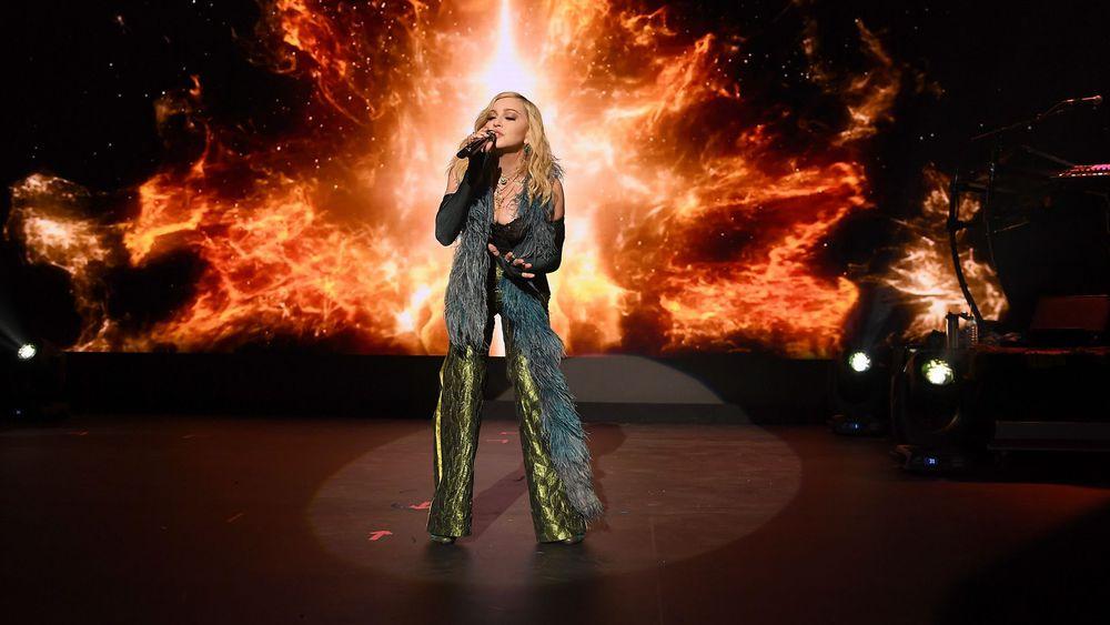 Madonna lors du gala de la Fondation Dicaprio à St Tropez en 2017