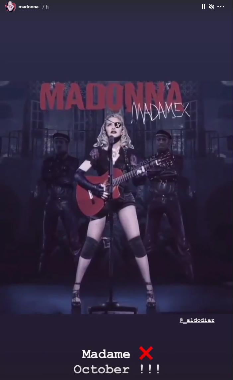 Madame X Tour : Octobre