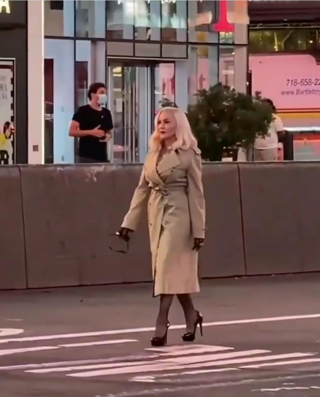 Madonna dans les rues de New York