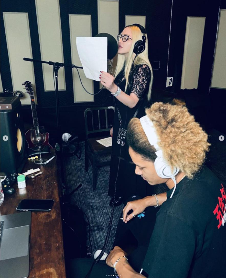 Madonna en studio avec Ahla Malik
