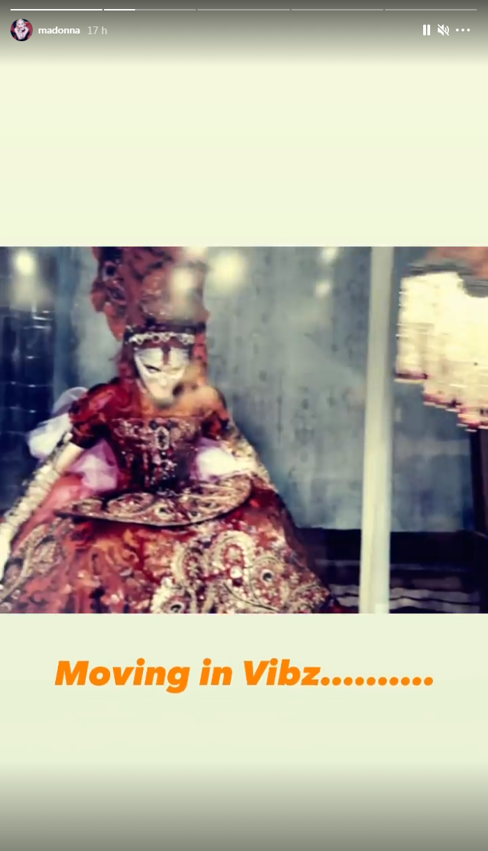 Madonna sur Instagram
