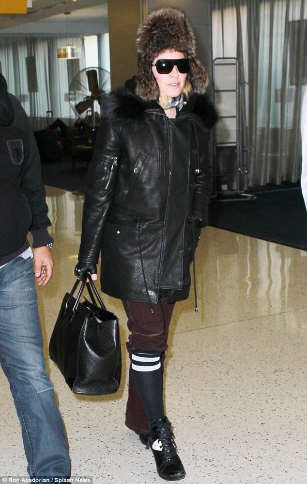 Madonna à Los Angeles : les photos de son arrivée