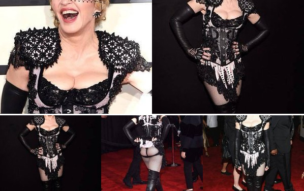 Madonna red carpet Grammy Awards